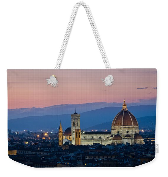 Florence At Sunset Weekender Tote Bag