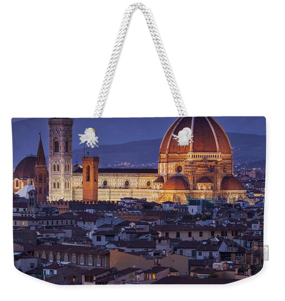 Weekender Tote Bag featuring the photograph Florence Duomo by Brian Jannsen