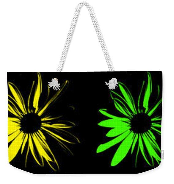 Flowers On Black Weekender Tote Bag