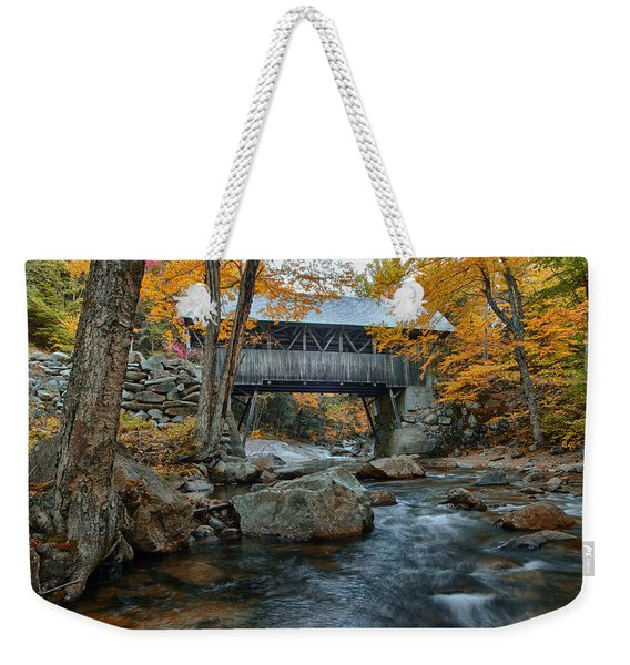 Flume Gorge Covered Bridge Weekender Tote Bag