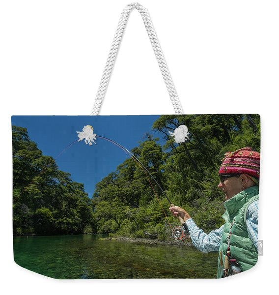 Fly Fishing Patagonia, Argentina Weekender Tote Bag