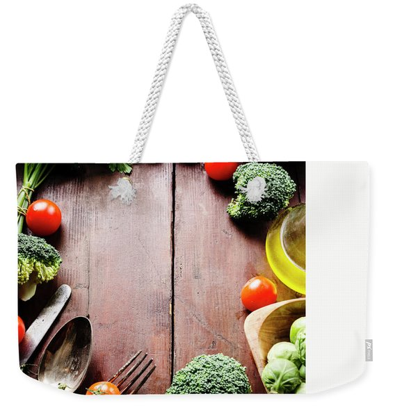Food Ingredients Weekender Tote Bag