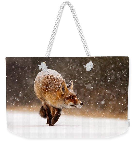 Fox First Snow Weekender Tote Bag