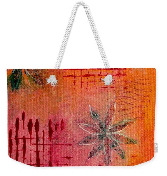 Fun Flowers In Pink And Orange 3 Weekender Tote Bag