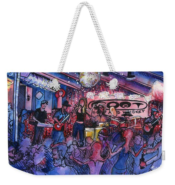 Funky Johnson At The Goat Weekender Tote Bag