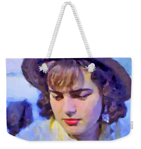 German Girl On The Rhine Weekender Tote Bag