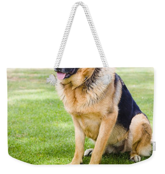 German Shepherd Dog Learning Obedience Training Weekender Tote Bag