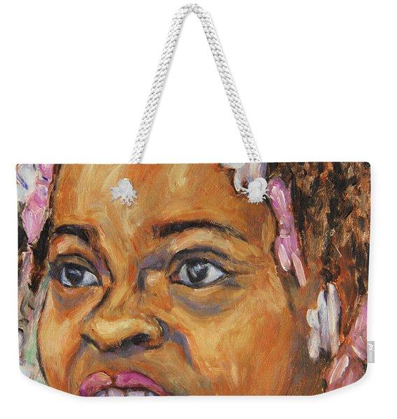 Girl With Dread Locks Weekender Tote Bag