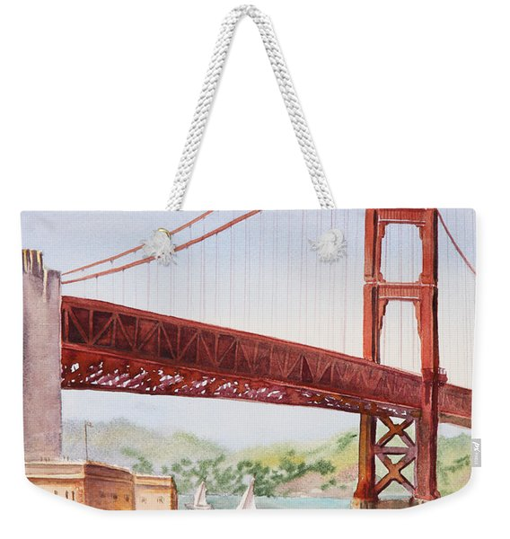Golden Gate Bridge San Francisco Weekender Tote Bag