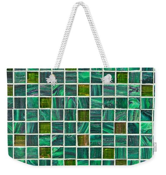 Green Tiles Weekender Tote Bag