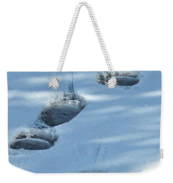 Grizzly Bear Tracks Weekender Tote Bag