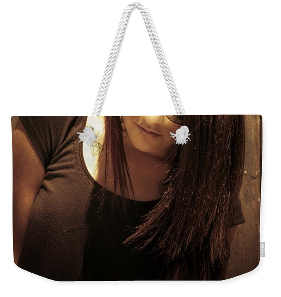 Grunge Woman Weekender Tote Bag