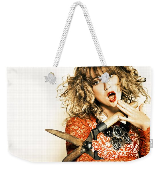 Hair Cut With Style Weekender Tote Bag