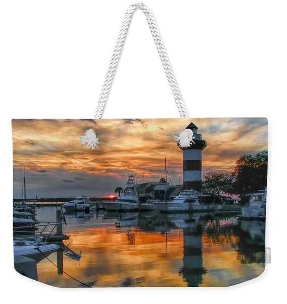 Harbour Town Sunset Weekender Tote Bag