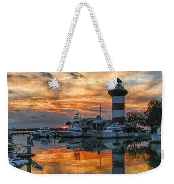 Harbour Town Sunset Weekender Tote Bag