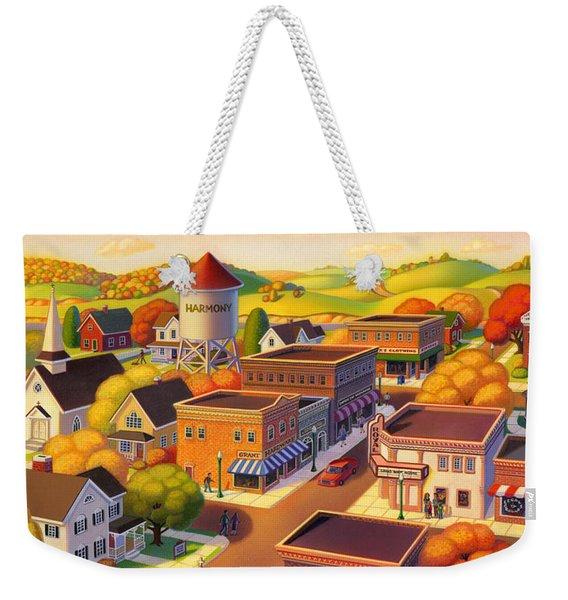 Harmony Town Weekender Tote Bag
