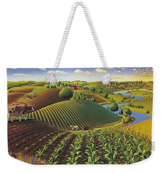 Harvest Panorama  Weekender Tote Bag
