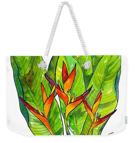 Heliconia Weekender Tote Bag