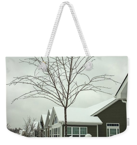 Hello Snow Weekender Tote Bag