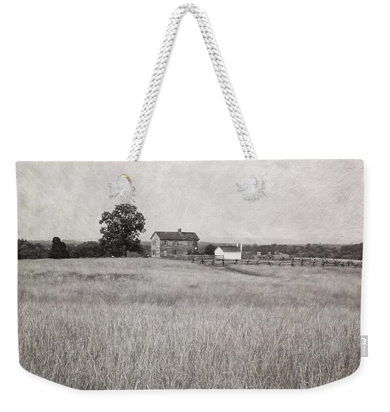 Henry House At Manassas Battlefield Park Black And White Weekender Tote Bag