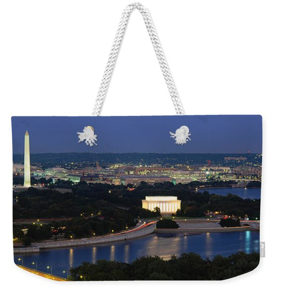 High Angle View Of A City, Washington Weekender Tote Bag