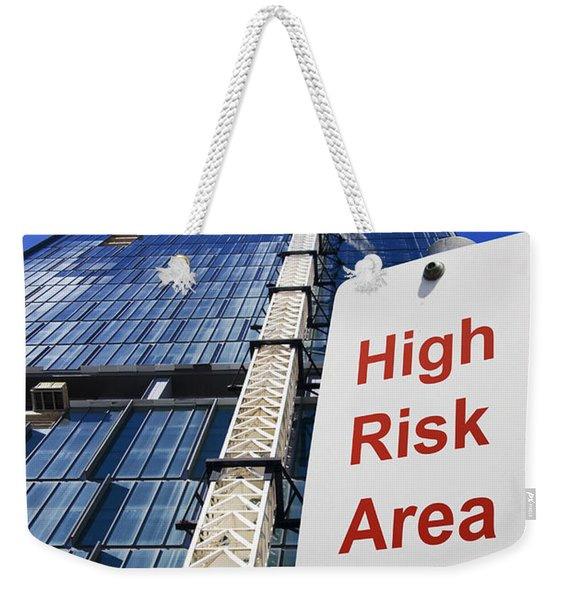 High Risk Building Site Weekender Tote Bag