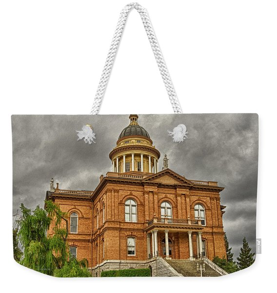 Weekender Tote Bag featuring the photograph Historic Placer County Courthouse by Jim Thompson
