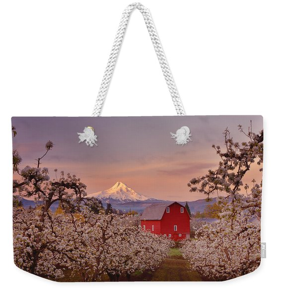 Hood River Sunrise Weekender Tote Bag