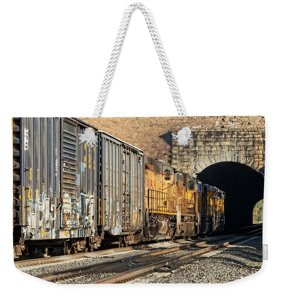 Weekender Tote Bag featuring the photograph Hp 8717 by Jim Thompson