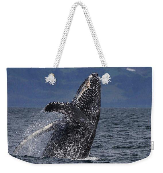 Humpback Whale Breaching Prince William Weekender Tote Bag