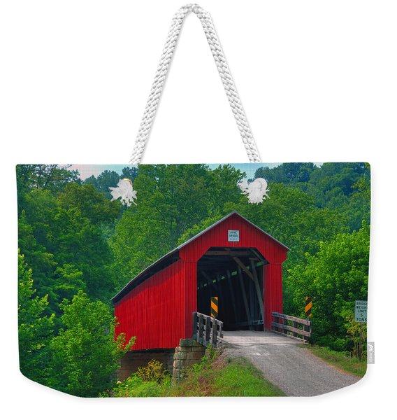 Hune Covered Bridge Weekender Tote Bag