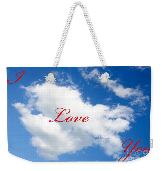 1 I Love You Heart Cloud Weekender Tote Bag
