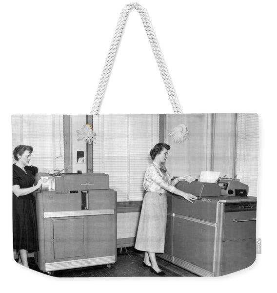 Ibm Punch Card Machines Weekender Tote Bag