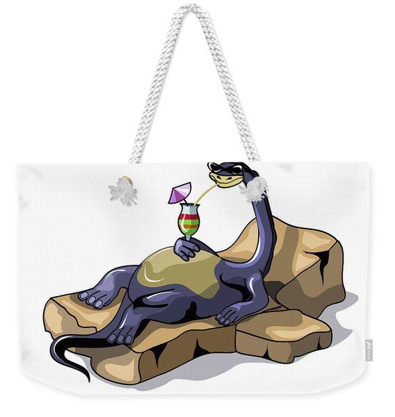 Illustration Of A Brontosaurus Weekender Tote Bag