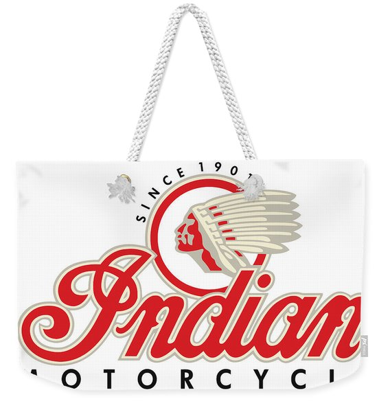 Indian Motorcycle Logo Weekender Tote Bag
