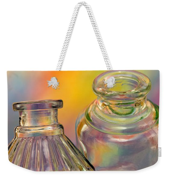 Ink Bottles On Color Weekender Tote Bag