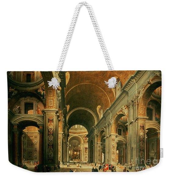 Interior Of St Peters In Rome Weekender Tote Bag