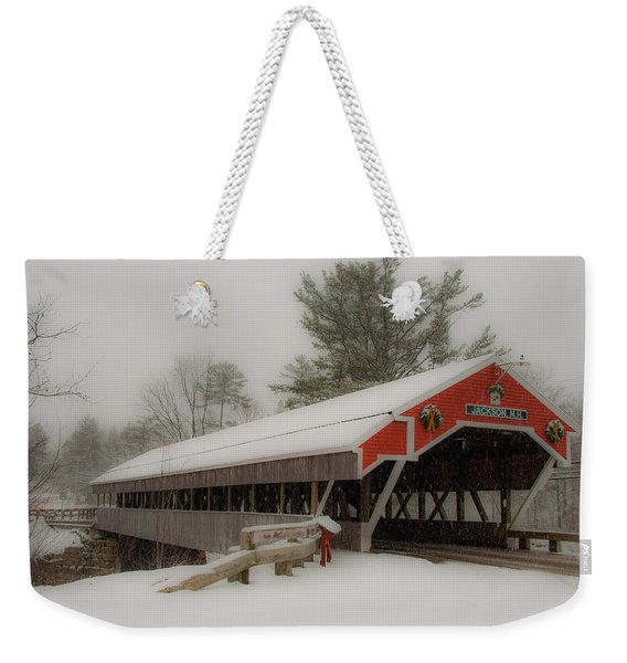 Jackson Nh Covered Bridge Weekender Tote Bag