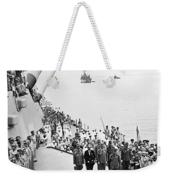 Japanese Surrender Ceremony Weekender Tote Bag