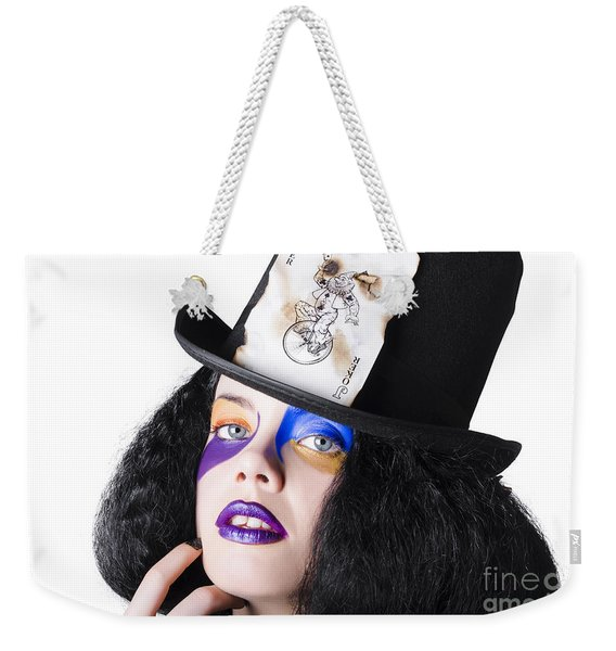 Jester With Joker Card On Hat Weekender Tote Bag