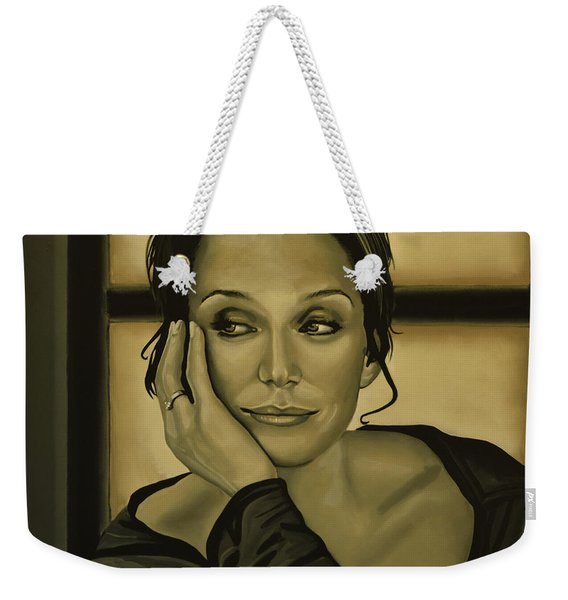Kristin Scott Thomas Weekender Tote Bag