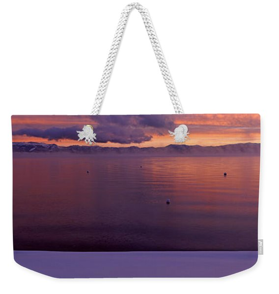 Lake At Sunset, Lake Tahoe, California Weekender Tote Bag