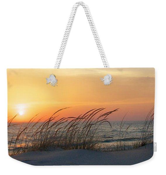 Lake Michigan Sunset Panorama Weekender Tote Bag