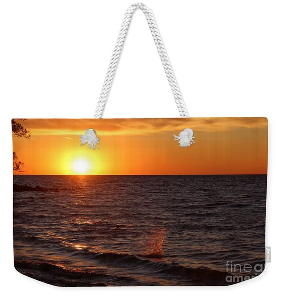 Weekender Tote Bag featuring the photograph Lake Ontario Sunset by Jemmy Archer