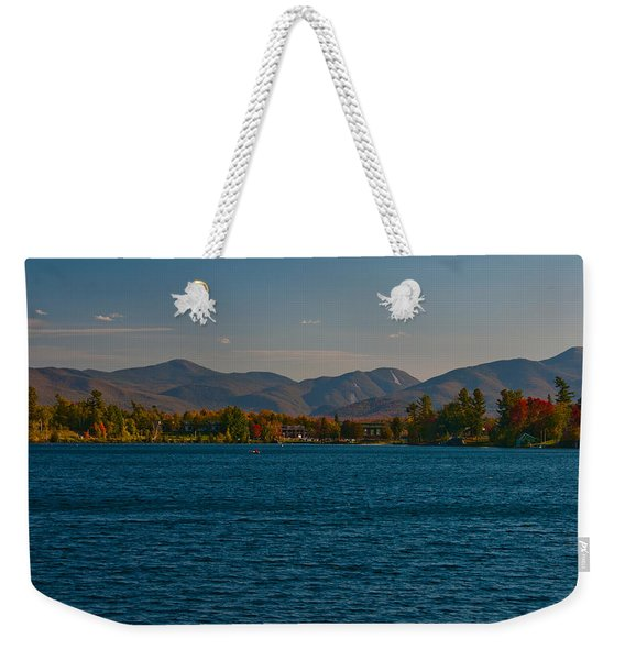Lake Placid And The Adirondack Mountain Range Weekender Tote Bag