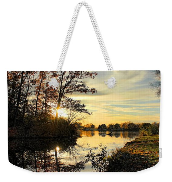 Lake Wausau Sunset Weekender Tote Bag