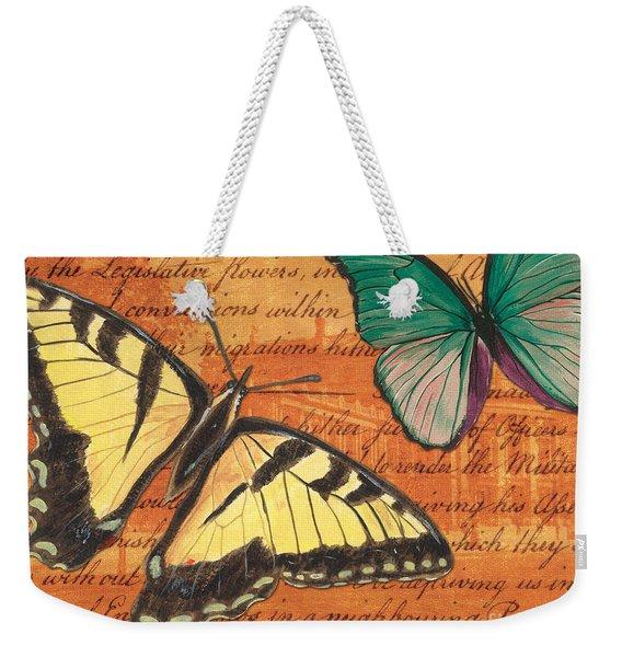 Le Papillon 3 Weekender Tote Bag