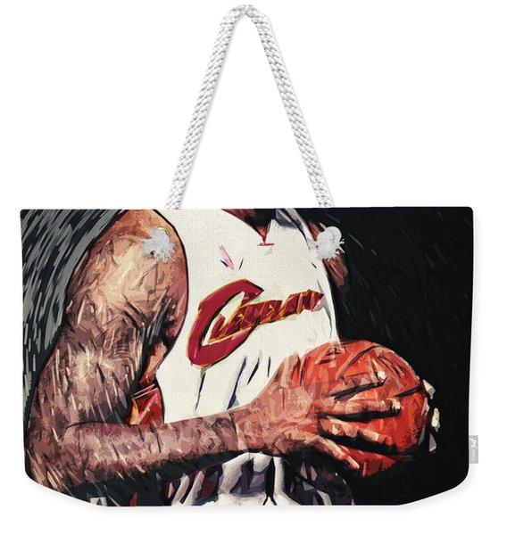 Lebron James Weekender Tote Bag