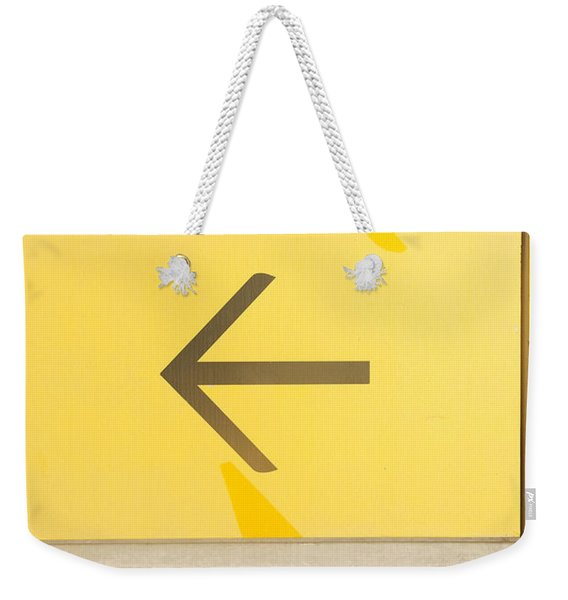 Left Direction Wall Weekender Tote Bag