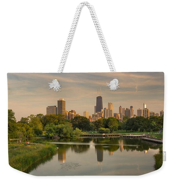 Lincoln Park Lagoon Chicago Weekender Tote Bag